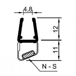 Profil mit Magneteinlage