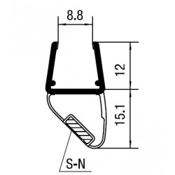 Magnetic door seal