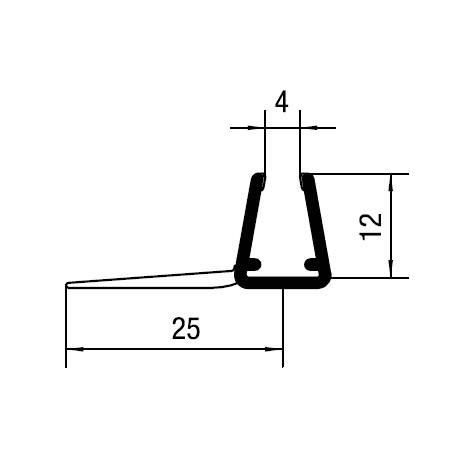 Vertical sliding door profile