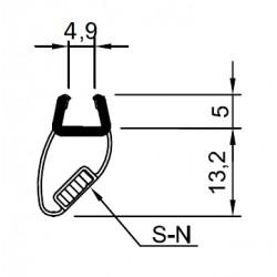Türdichtprofil mit Magneteinlage