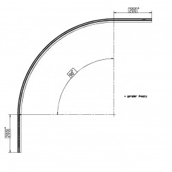 Water deflector curved