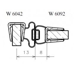 Profile set for swing door