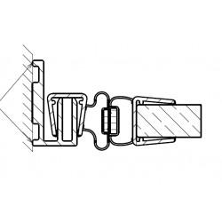 Profilset Pendelbeschlag Nische